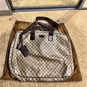 Gucci GG Logo Canvas Garment bag